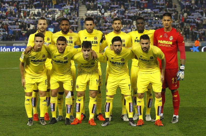 Villarreal CFopstelling het stellen stock afbeelding