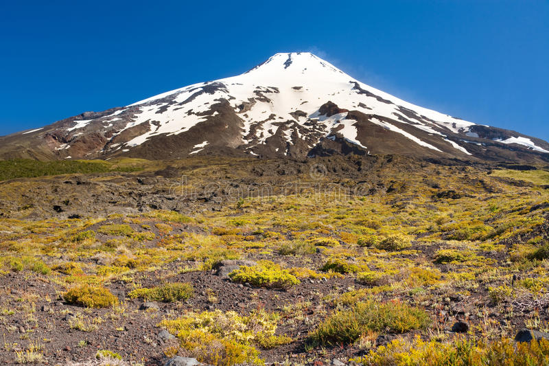 Villarrica volcano stock photo
