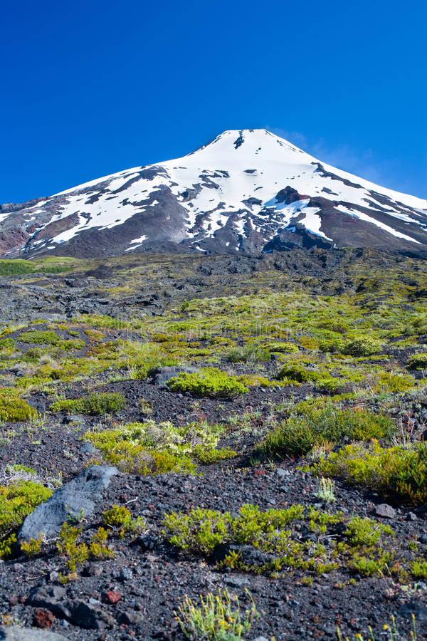 Villarrica volcano stock image