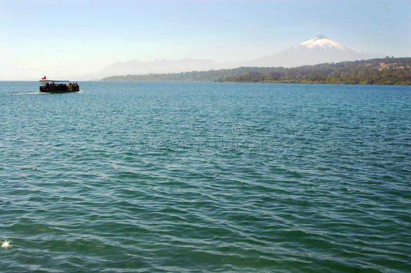Villarrica vulkan royaltyfria bilder