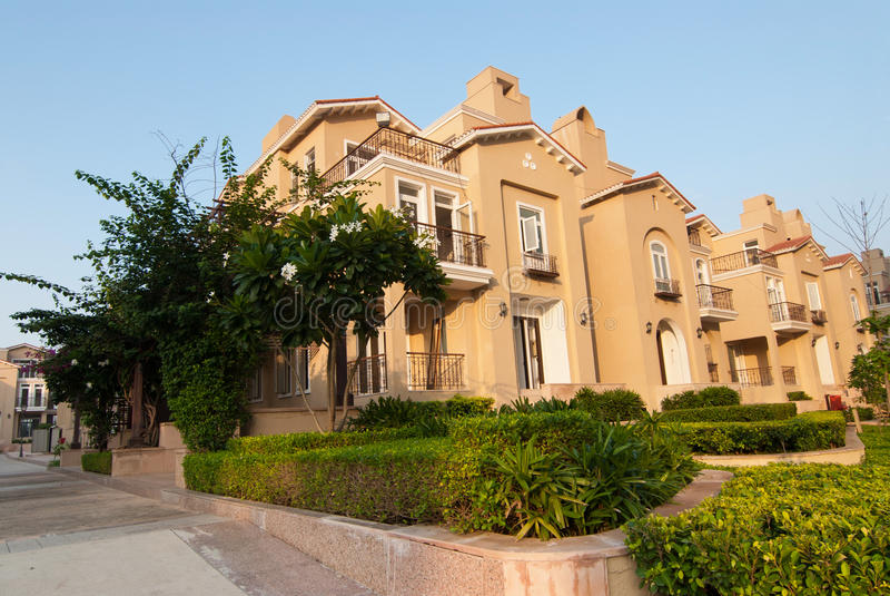 Villas royalty free stock photos