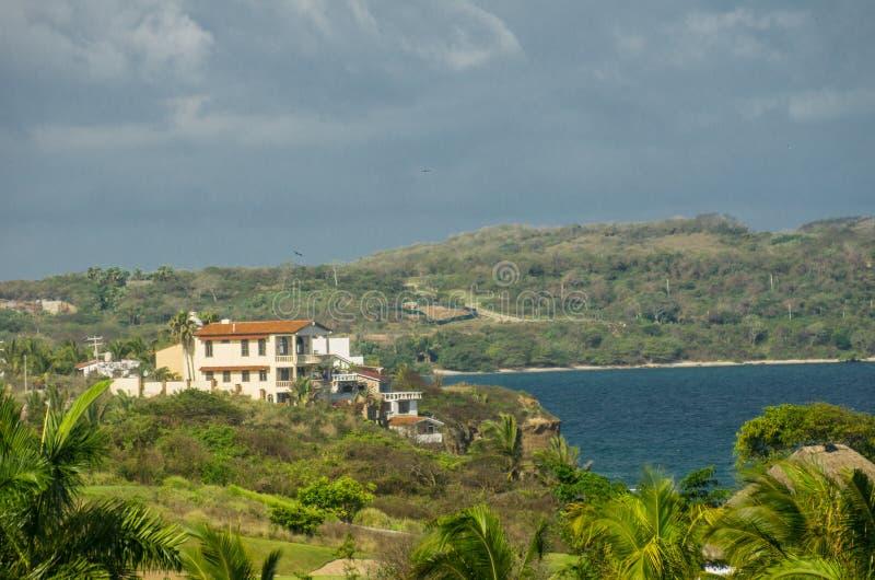Villas on the cliffs, Punta Mita, Mexico stock photo