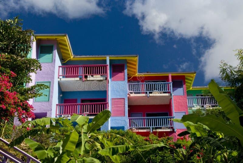 Villas de logement au compartiment de Leverick image libre de droits