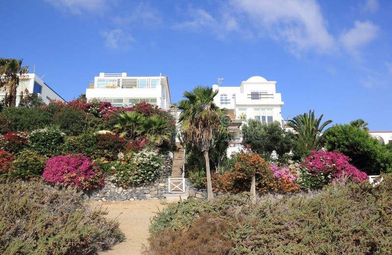 Villas du front de mer de luxe de vacances. photo libre de droits