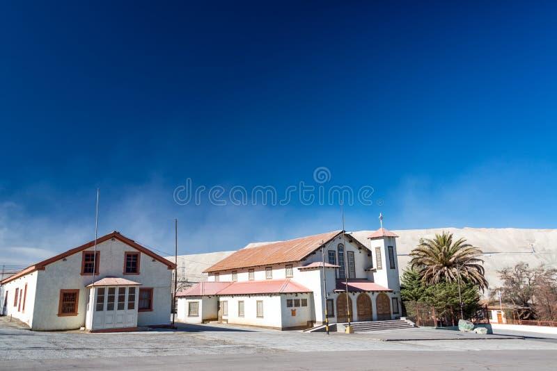 Ville abandonnée de Chuquicamata photographie stock