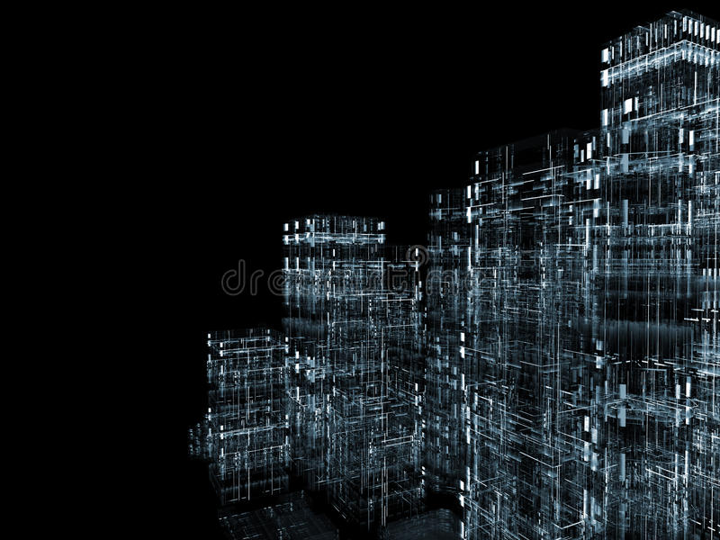 Ville abstraite illustration de vecteur