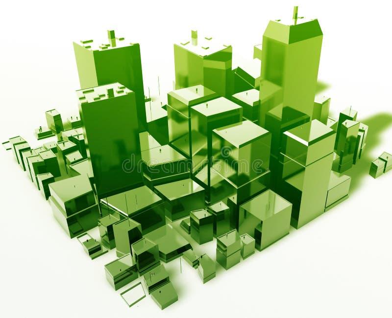 Ville abstraite moderne illustration de vecteur