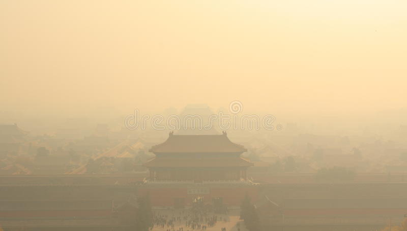 ville Air-polluée photos libres de droits