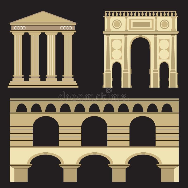 Ville antique antique, illustration de vecteur