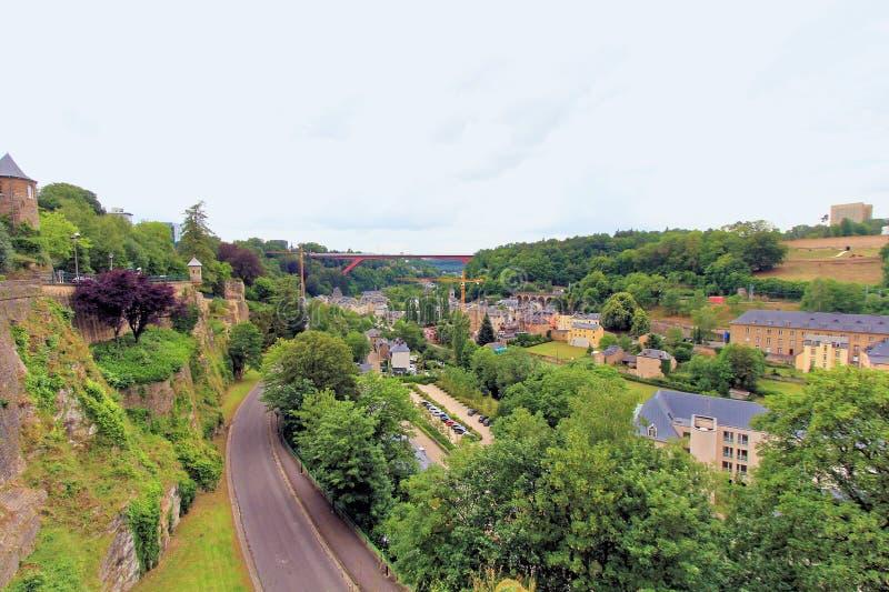 Ville antique au Luxembourg central image stock