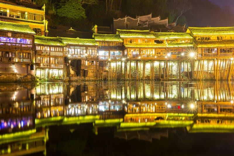 Ville antique Chine de Fenghuang photographie stock libre de droits