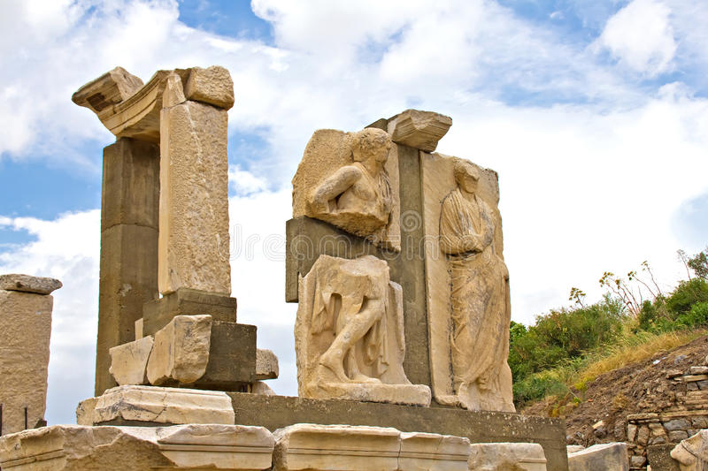 Ville antique d'Ephesus image libre de droits
