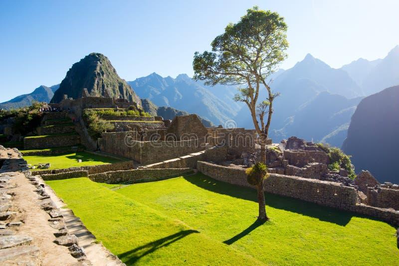 Ville antique d'Inca de Machu Picchu, Pérou photo stock