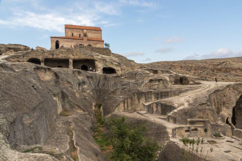 Ville antique de caverne d'Uplistsikhe, la Géorgie photo libre de droits