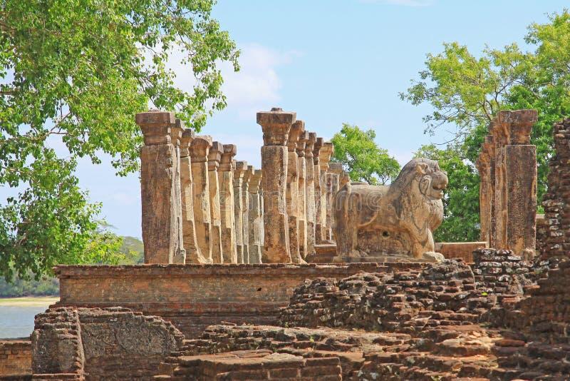 Ville antique de Chambre du conseil du ` s de Polonnaruwa patrimoine mondial de Nissankamalla - de Sri Lanka d'UNESCO photos libres de droits