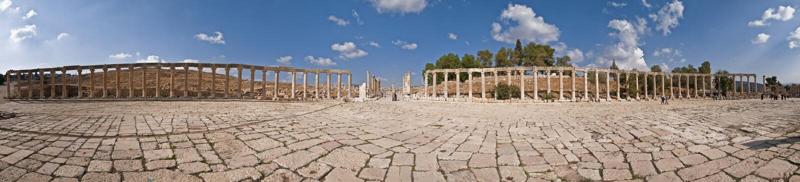Ville antique de Jerash photo stock