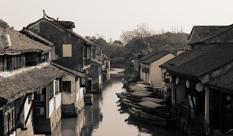 Ville antique de l'eau de Zhouzhuang, Chine photo stock