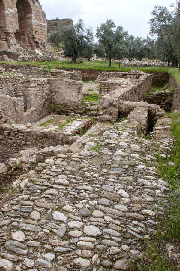 Ville antique de Tralleis, Aydin, Turquie photos libres de droits