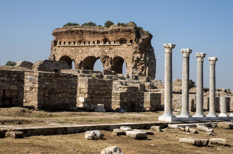 Ville antique de Tralleis, Aydin, Turquie image libre de droits