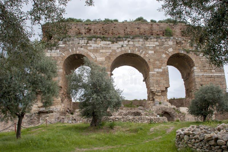 Ville antique de Tralleis, Aydin, Turquie photographie stock libre de droits