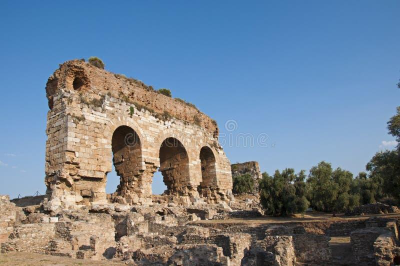 Ville antique de Tralleis d'Aydin City dans la côte égéenne de la Turquie photographie stock libre de droits
