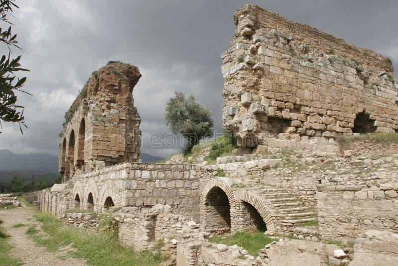 Ville antique de Tralleis, Turquie image stock