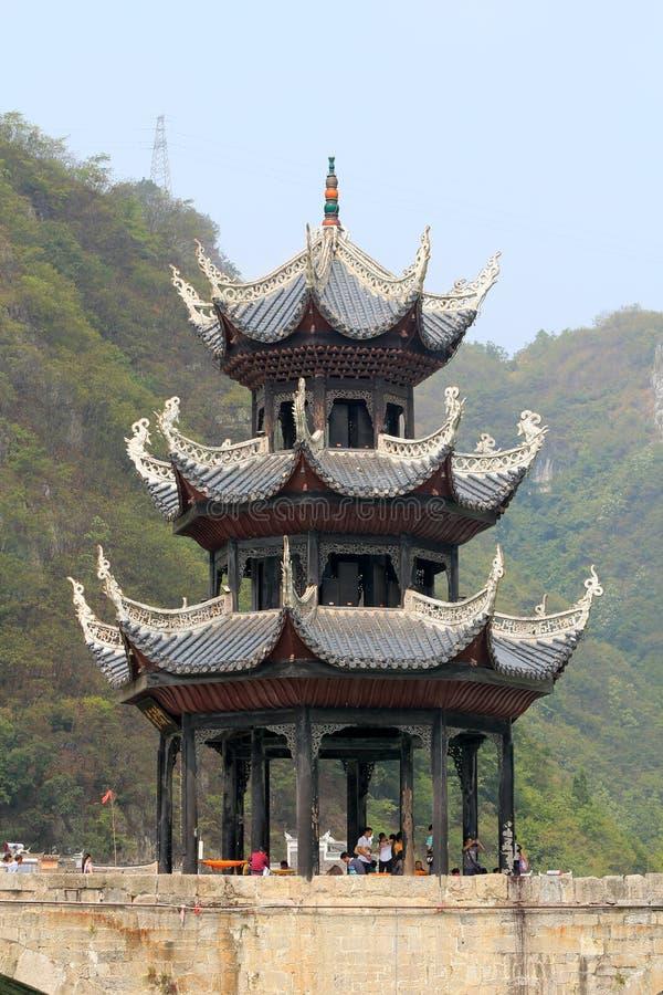 Ville antique de Zhenyuan dans la porcelaine de Guizhou image libre de droits