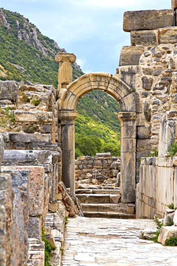 Ville antique Ephesus images stock