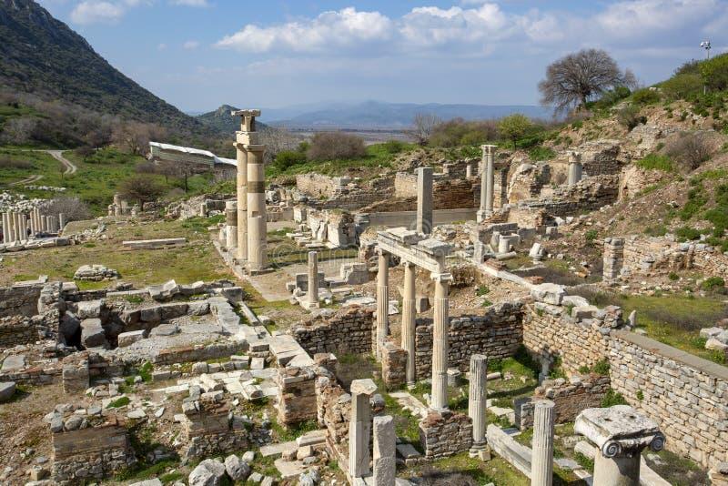 Ville antique historique d'Ephesus Selcuk/Izmir/Turquie photos stock