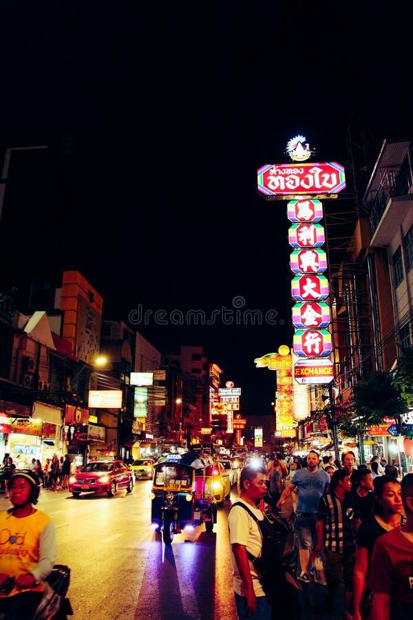 Ville Bangkok Thaïlande de la Chine photographie stock