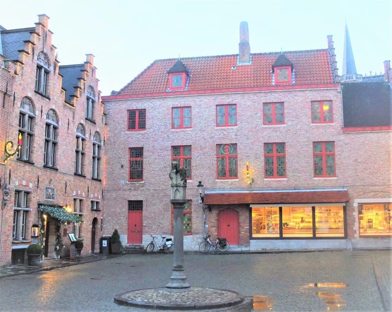 Ville belge, Brugge stock afbeeldingen