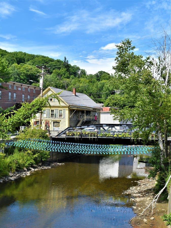 Ville capitale de l'État de Montpellier, Vermont, Washington County, Vermont, Etats-Unis USA images stock