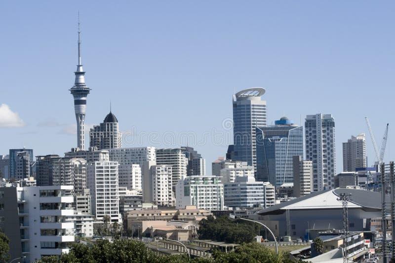 Ville CBD d'Auckland photographie stock libre de droits