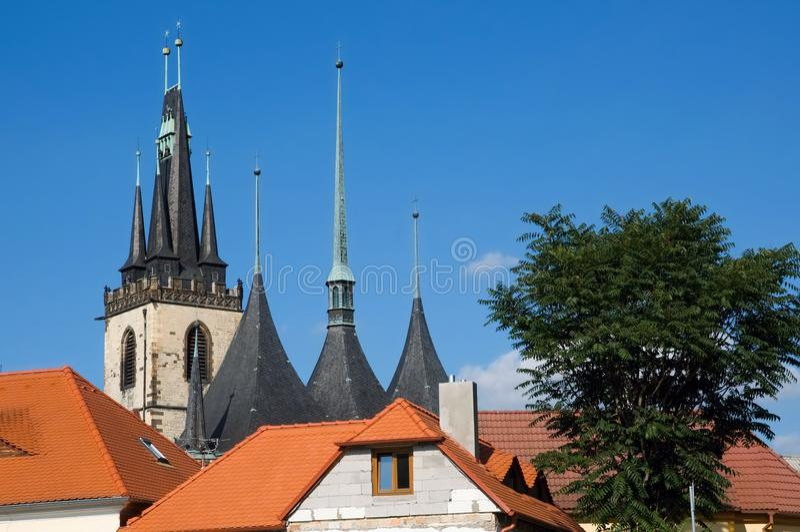 Ville centrale historique Louny photo stock