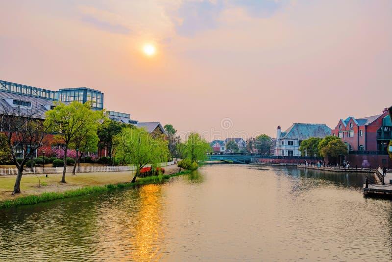 Ville Changhaï de la Tamise images libres de droits