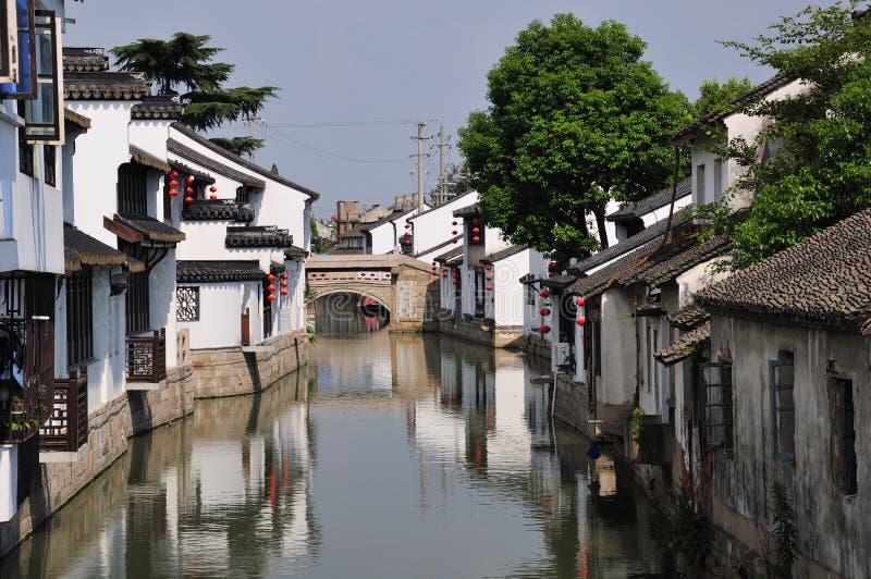 Ville Chine de l'eau de Luzhi photographie stock libre de droits