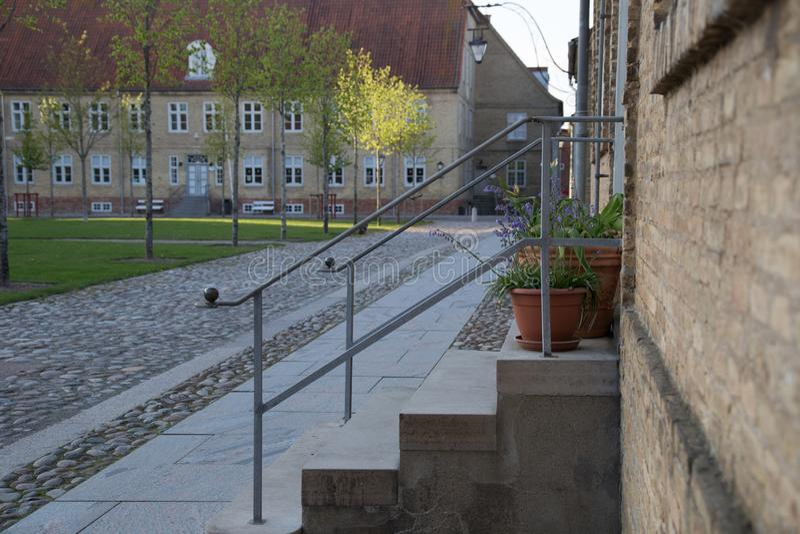 Ville Christiansfeld de patrimoine mondial image stock