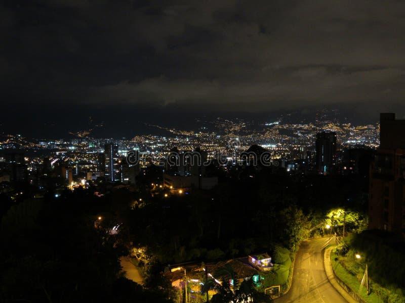 Ville Colombie de MedellÃn photographie stock libre de droits