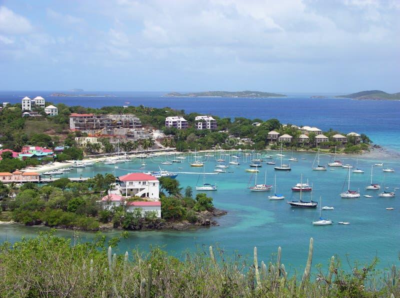 Ville d'île de St.John image libre de droits