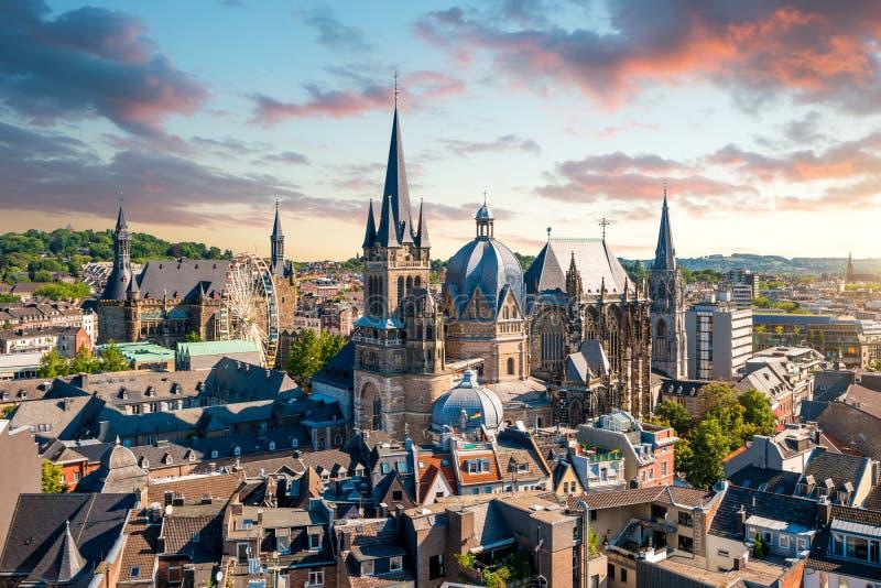 Ville d'Aix-la-Chapelle, Allemagne image libre de droits
