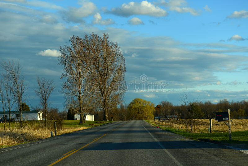 Ville d'Alburgh, Vermont image libre de droits