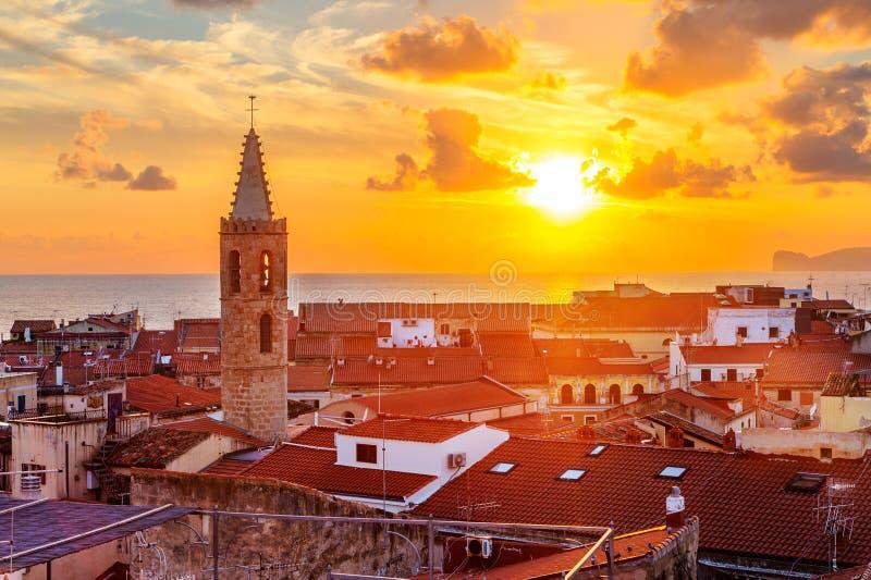 Ville d'Alghero, Sardaigne images libres de droits