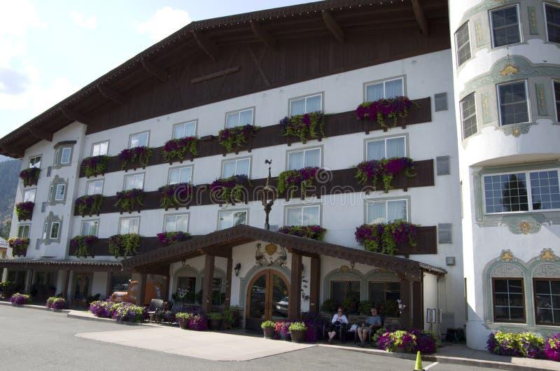 Ville d'Allemand de Leavenworth de loge de Barvarian photos stock