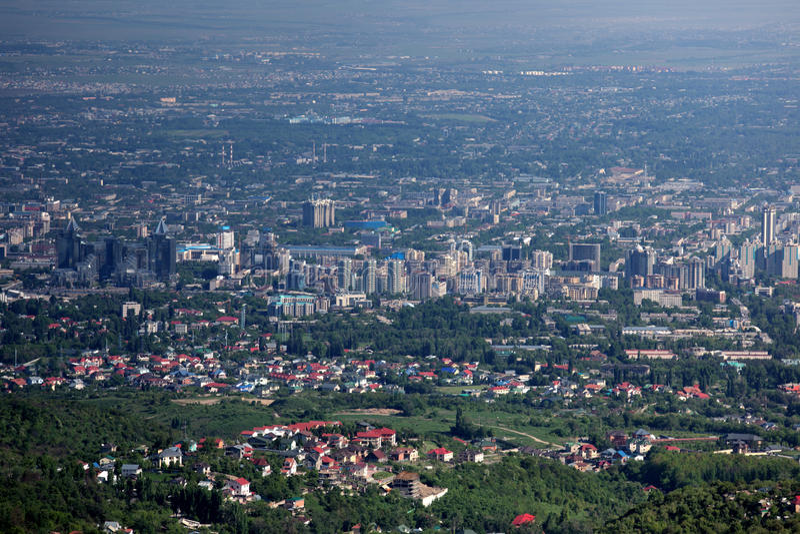 Ville d'Almaty photo stock