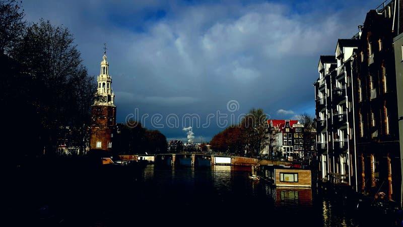 Ville d'Amsterdam photographie stock libre de droits