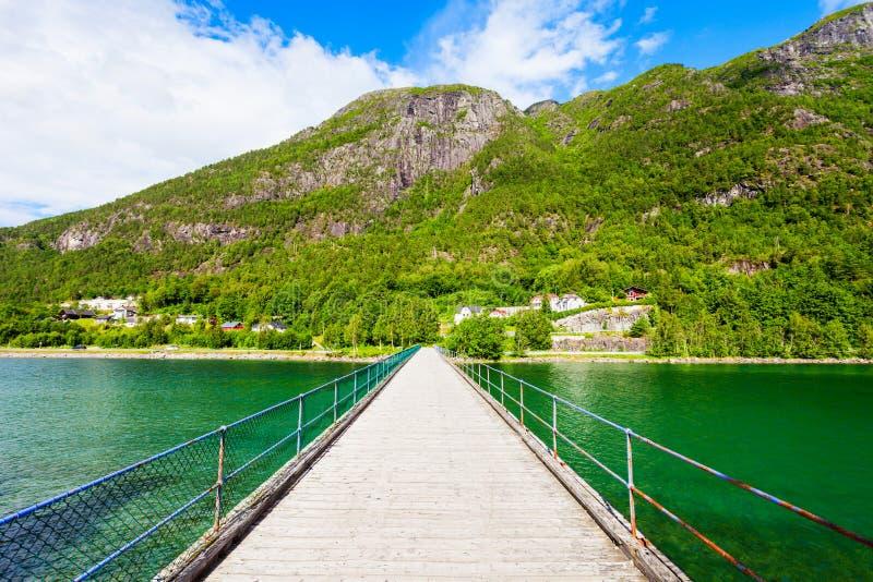 Ville d'Andalsnes en Norvège images libres de droits