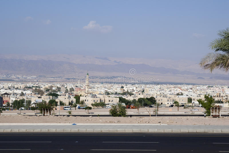 Ville d'Aqaba, Jordanie image stock