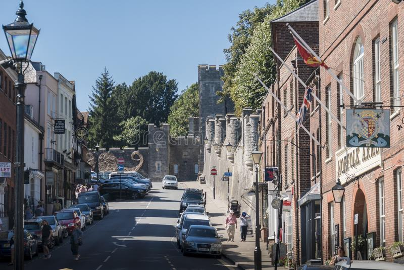 Ville d'Arundel, le Sussex occidental R-U photos stock