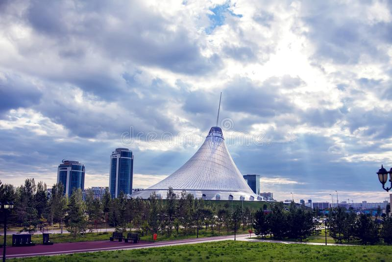 Ville d'Astana, Kazakhstan, le 22 août 2018, centre de divertissement photographie stock libre de droits