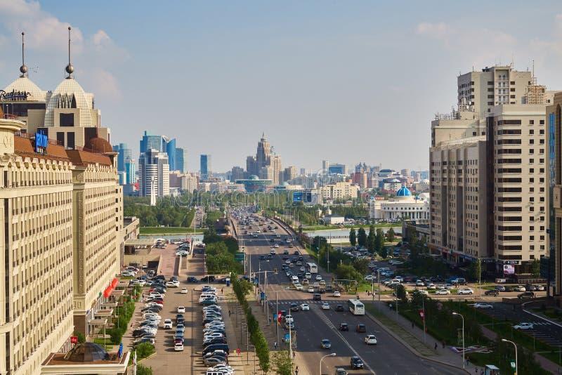 Ville d'Astana, Kazakhstan - photo de taille, été images stock
